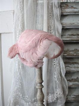 Zauberhafter kleiner Hut rosa Federn Frankreich