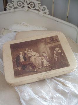 Dekorative alte Pappschachtel aus Frankreich um 1900