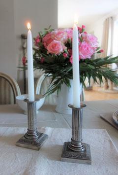 Antike versilberte Kerzenständer XVI Frankreich