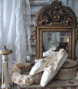 RAR: Antike viktorianische Seiden Ballschuhe um 1820 Frankreich