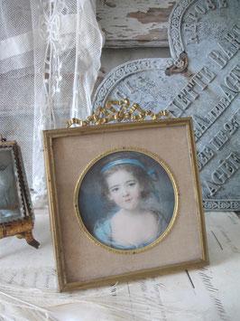 Antiker Bilderrahmen mit Bekrönung Frankreich