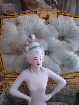 Antike Teepuppe - Halbpuppe Porzellan