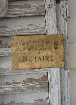 Altes Messing Firmenschild aus Frankreich