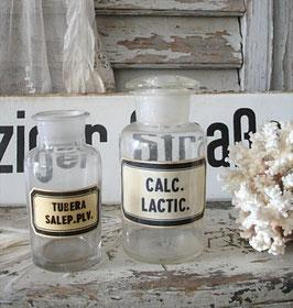 Zwei alte Apothekergläser / Apothekerflaschen
