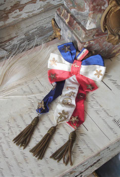 Shabby: Antikes Abzeichen / Rosette Wehrpflichtige Frankreich