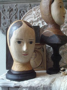 Shabby: Dekorative Marotte / Pappmascheekopf