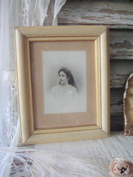 Antiker Holzstuckrahmen Porträtfoto Frankreich 1900
