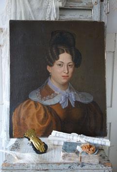 Wunderschönes antikes Damen Porträt Gemälde um 1830