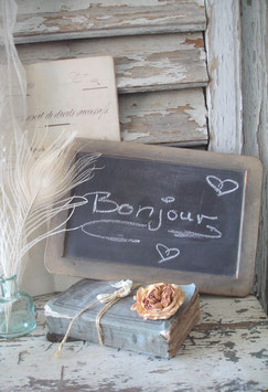 Schöne alte Schiefertafel /  Schultafel aus Frankreich