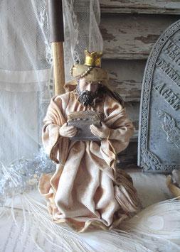 Vintage Krippenfigur - Heilige drei Könige, Frankreich