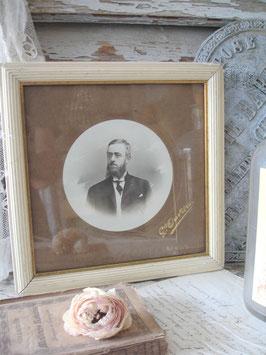 Antiker Holzstuckrahmen Porträtfoto Marseille 1900