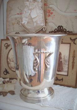 Dekorativer Champagner Kühler Metall Frankreich