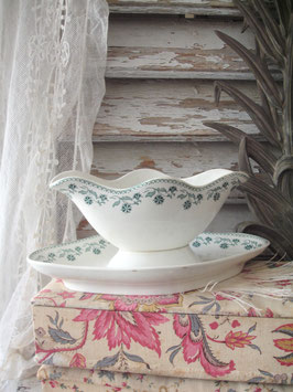 Shabby: Antike Keramik Sauciere Dekor Frankreich