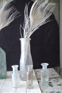 Vier antike Apothekerflaschen 19. Jahrhundert