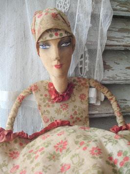 Antike Sofapuppe als Aufbewahrungstasche Frankreich