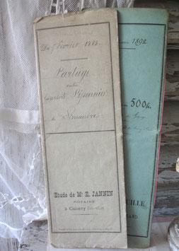 Dekoratives antikes handgeschriebenes Notarschriftstück 1883 Frankreich