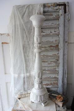 Shabby: Riesiger alter Holz Kerzenständer aus Frankreich