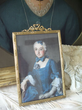 Antiker Bilderrahmen Stil Louis XVI Frankreich