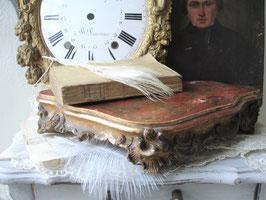 Antikes vergoldetes Holzplateau Frankreich 19. Jahrhundert
