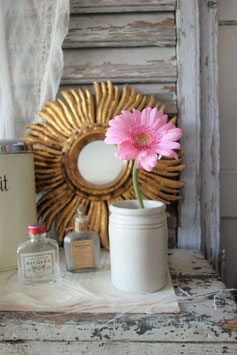 Shabby: Alter Keramik Pot/Vorratsgefäß aus England