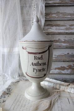 RAR: Antikes Apothekergefäß mit Deckel Frankreich 19. Jahrhundert