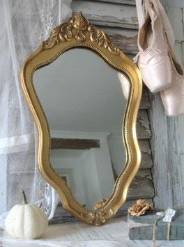 Shabby: Alter Boudoir Spiegel vergoldet aus Frankreich