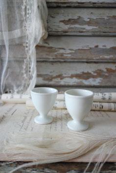 2-er Set antiker Eierbecher Porzellan Frankreich 1900