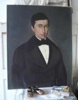 Wunderschönes großes Portrait eines jungen Herrn