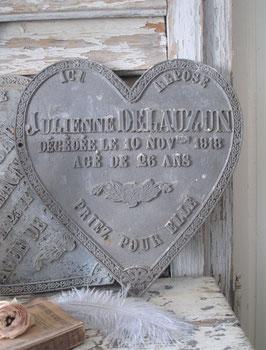 Altes großes Metall Gedenkerz aus Frankreich