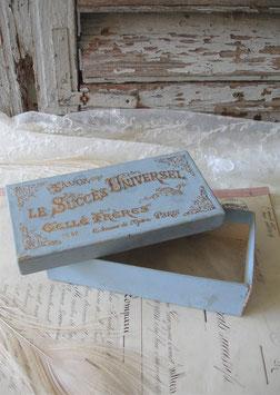 Dekorative alte Pappschachtel Seife aus Frankreich