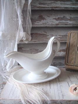 Shabby: Alte Keramik Sauciere  Belgium