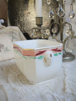 Dekorativer alter Porzellan Sucrier aus Frankreich 1920