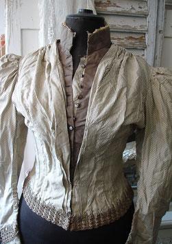 Antike Korsett Jacke mit Puffärmeln 19. Jahrhundert