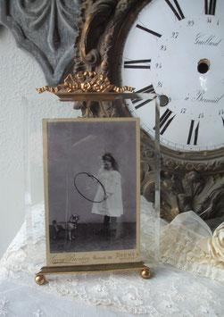 Antiker großer Bilderrahmen mit Bekrönung 1890