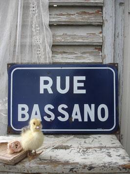 Altes französisches Straßenschild Emaille