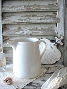Shabby: Alte große Keramik Milchkanne Frankeich