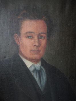 Antikes Porträt eines jungen Mannes 19. Jahrhundert Frankreich