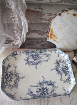 Antike Keramik Servierplatte Ende 19. Jahrhundert