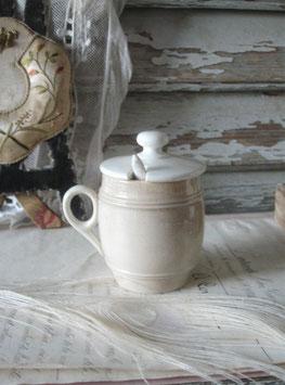 Antiker Keramik Moutardier aus Frankreich 1900
