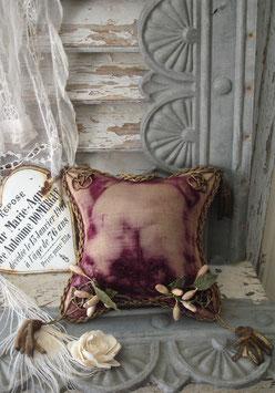 Shabby: Antikes Brautkissen Samt Frankreich um 1880