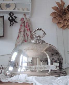 Antike versilberte Speise Cloche aus England