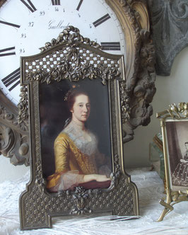 Antiker großer Messing Bilderrahmen Frankreich