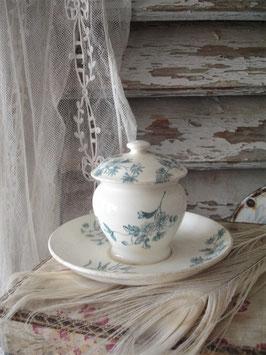 Zauberhaft: Antiker Keramik Moutardier aus Frankreich 1900