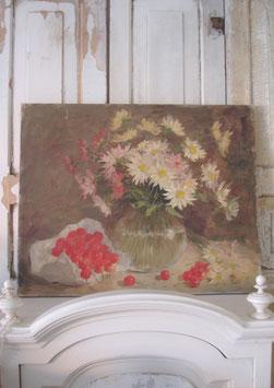 Zauberhaftes altes Blumenbild Ölbild Stilleben