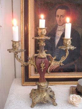 Seltener antiker Rocaillen Kerzenleuchter Frankreich 19. Jahrhundert