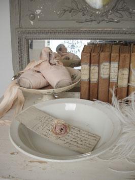 Shabby: Keramik Teller mit Patina aus Frankeich