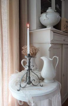 RAR: Seltener antiker Zink Kerzenständer aus Frankreich