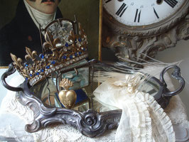 Antikes Spiegel Tablett aus Frankreich Boudoir