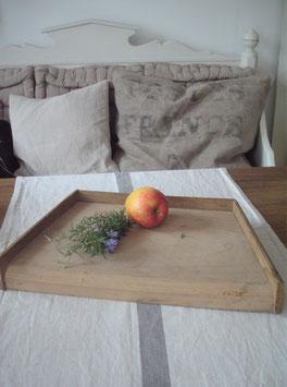 Shabby: Altes Holz Hackbrett /Kräuterbrett aus Frankreich