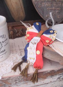 Shabby: Antikes Abzeichen / Schleife Wehrpflichtige Frankreich